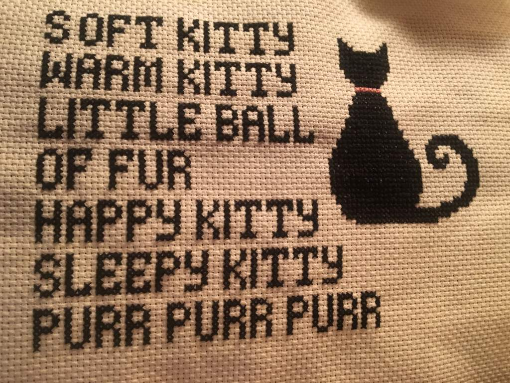 Soft Kitty Warm Kitty Is Finished Crafty Amino