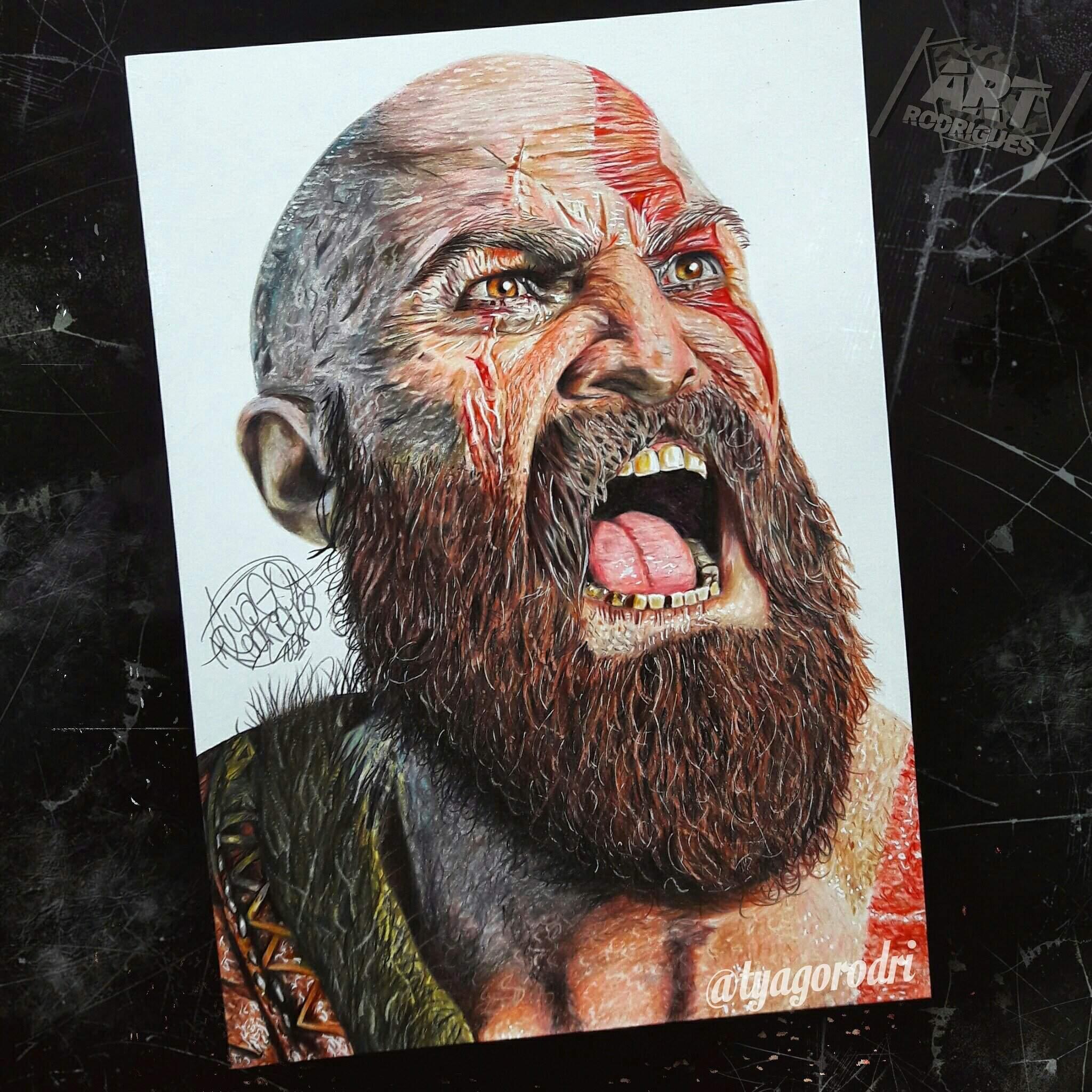 Desenho De Kratos God Of War Dicas Em Meu Canal M Arte