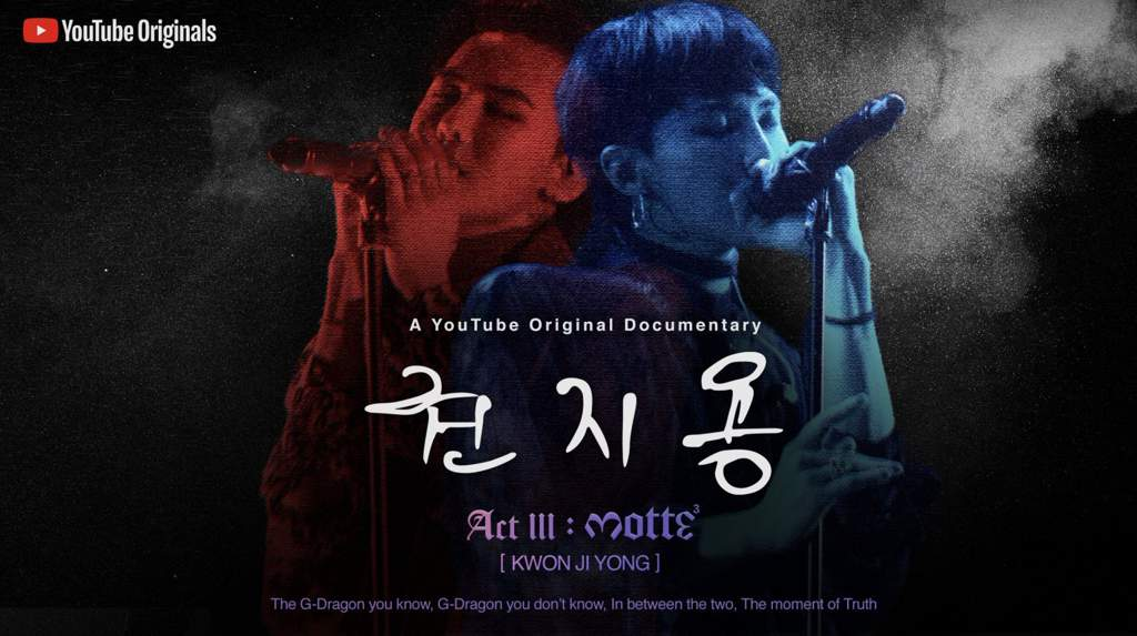 """YG & Youtube to Release """"M O T T E: Act III """"Kwon JiYong"""
