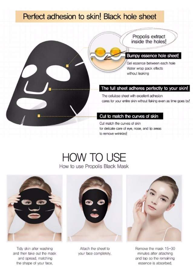 Maxclinic Propolis Black Mask Review   Korean Beauty Amino