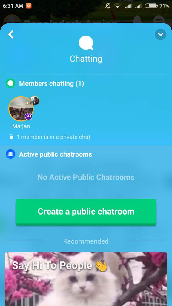 Marjan chat