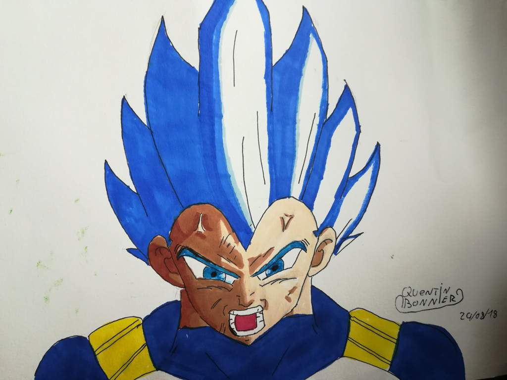 Vegeta Ssj Blue Full Power Dessin Original De Masis Manga Man Drawing Amino