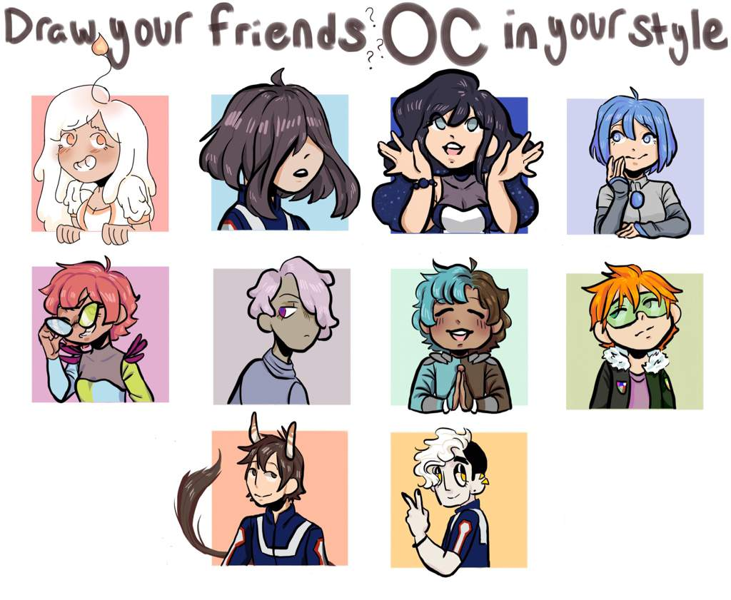 Draw Your Friends Oc In Your Style My Hero Academia Amino