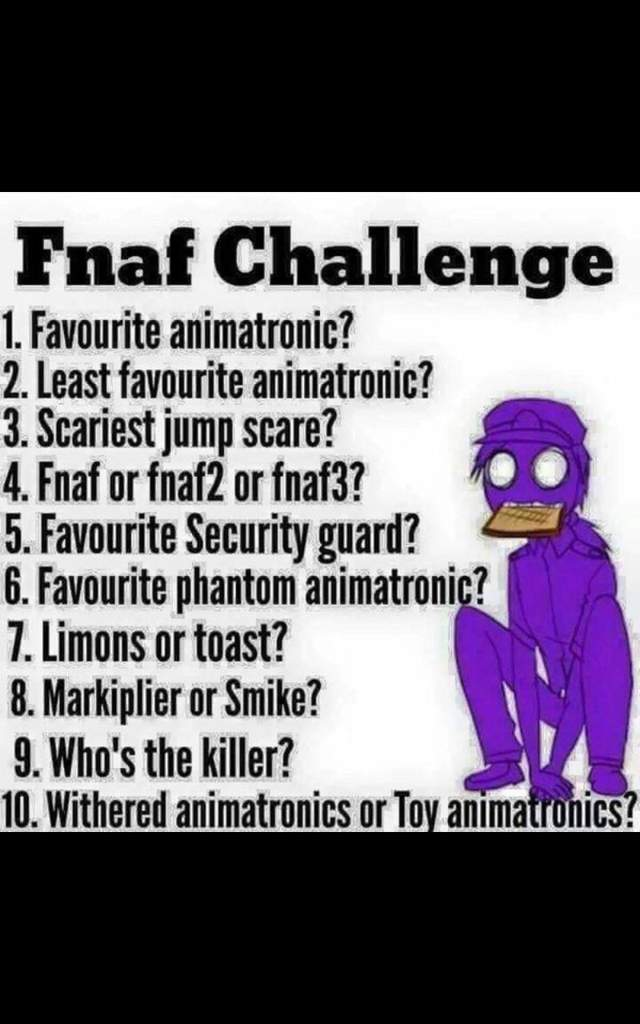 1  Funtime Foxy 2  Ballon Boy 3  Phantom Animatronics 4