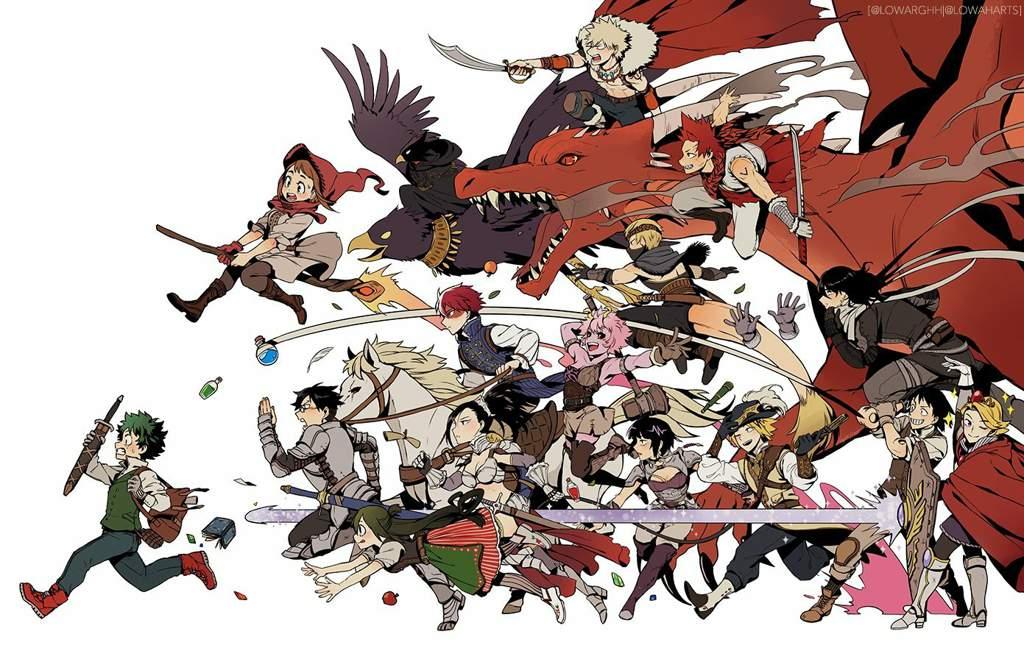 What Are Your Fantasy Au Headcanons My Hero Academia Amino
