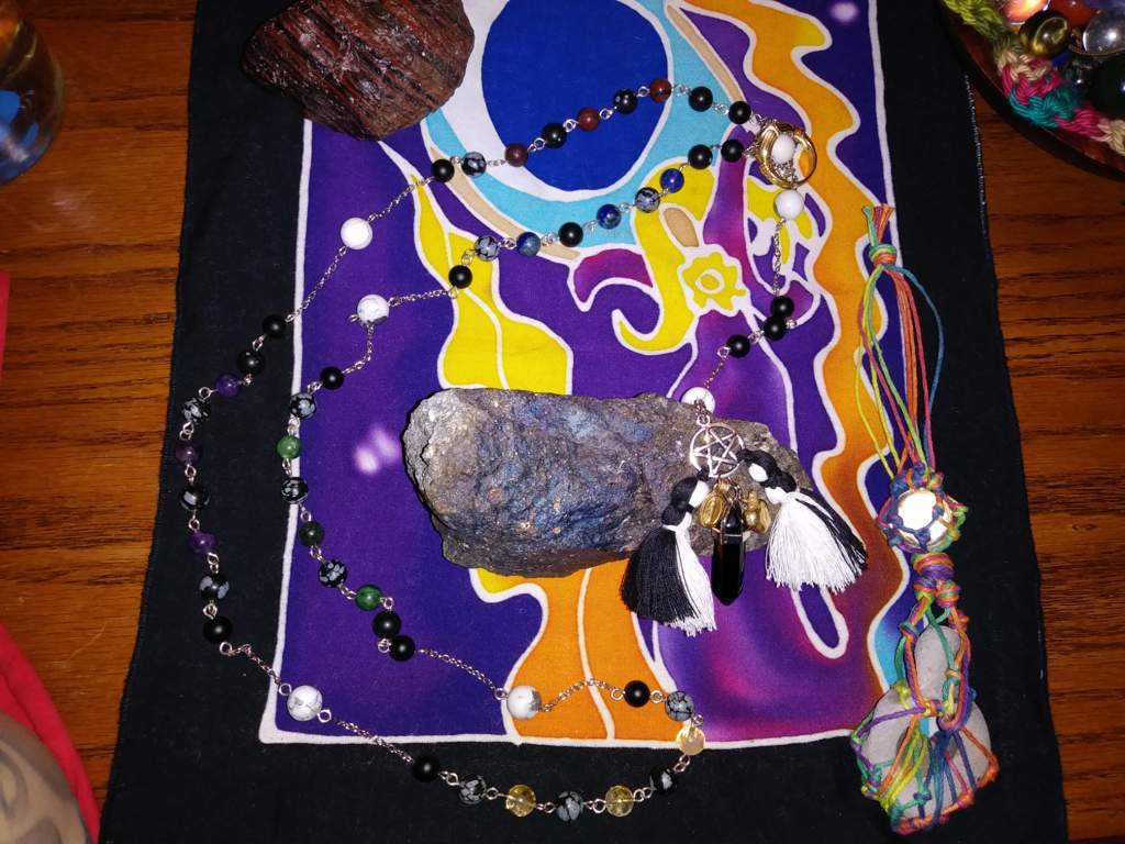 My method of using my witches rosary, and hagstone