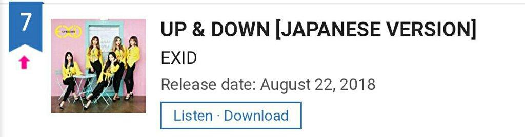 Up and Down Ranking on Oricon Daily Singles Chart | EXID Amino Amino