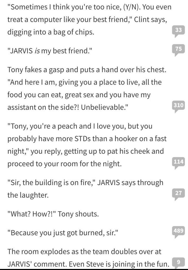 Random fanfic i found on wattpad it rosted tony good | LOKI⚔️ Amino
