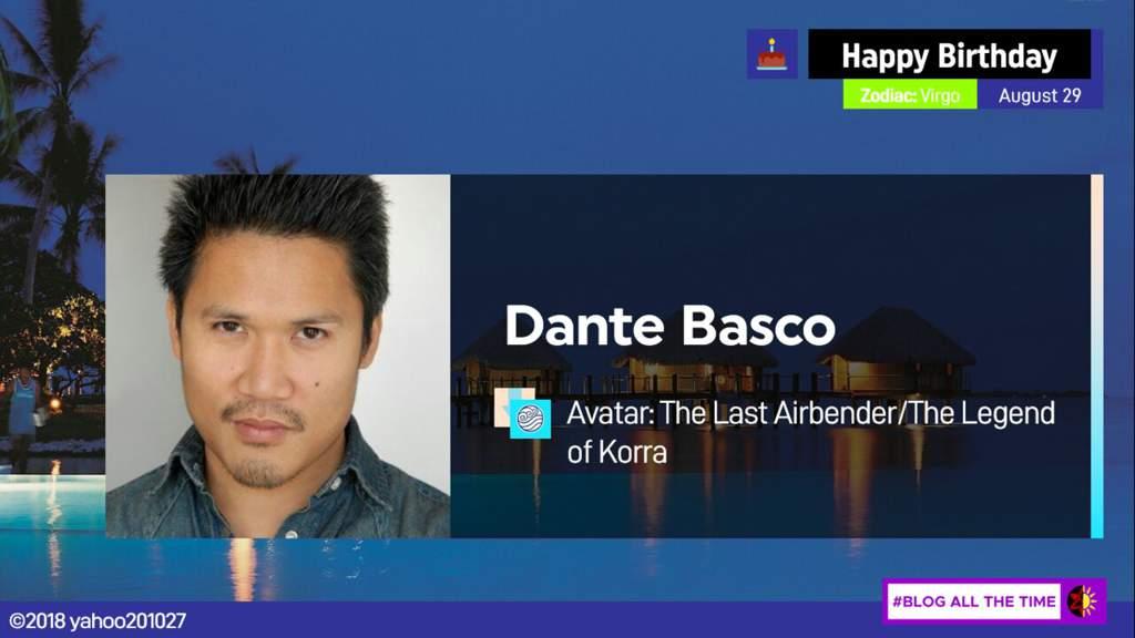 Happy Birthday Dante Basco Avatar Amino