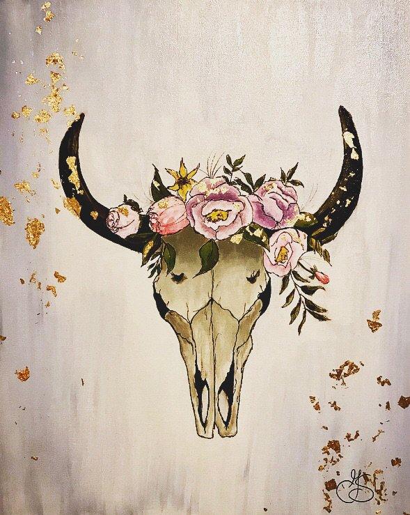 bull skull art amino