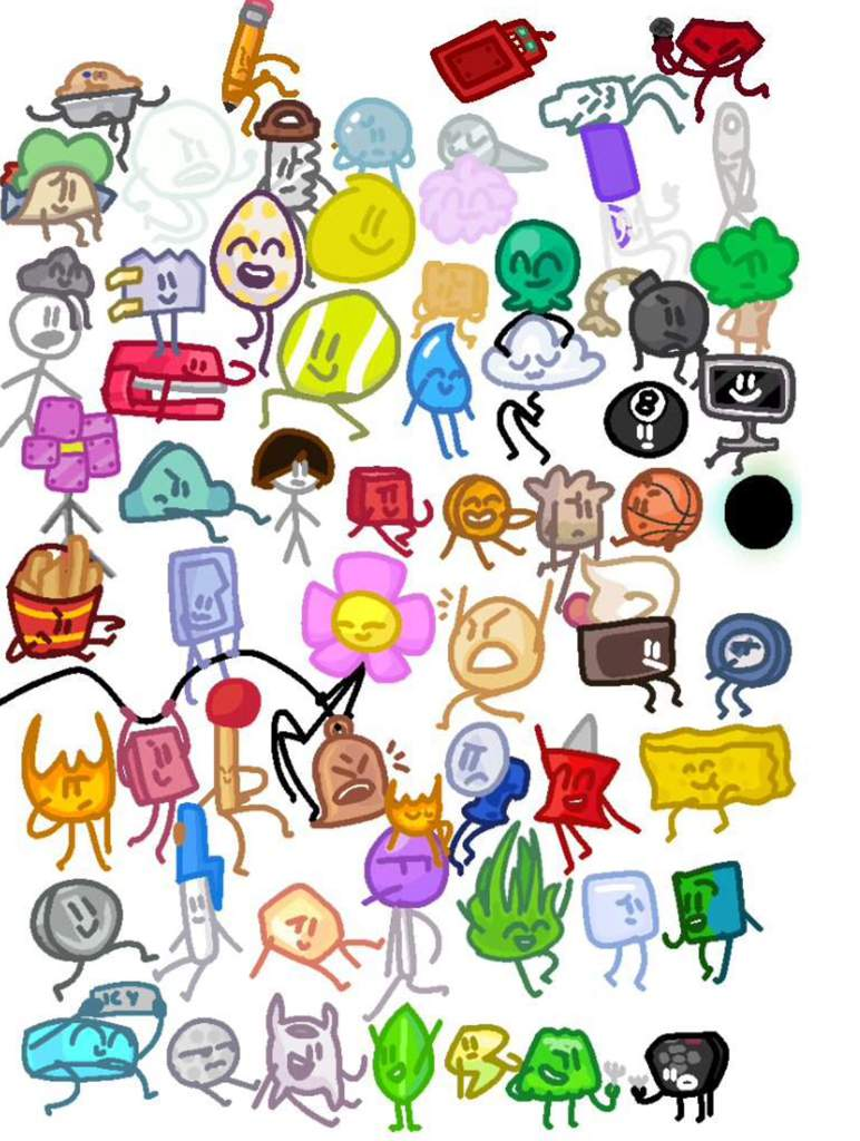 my drawings for bfb characters bfdi amino