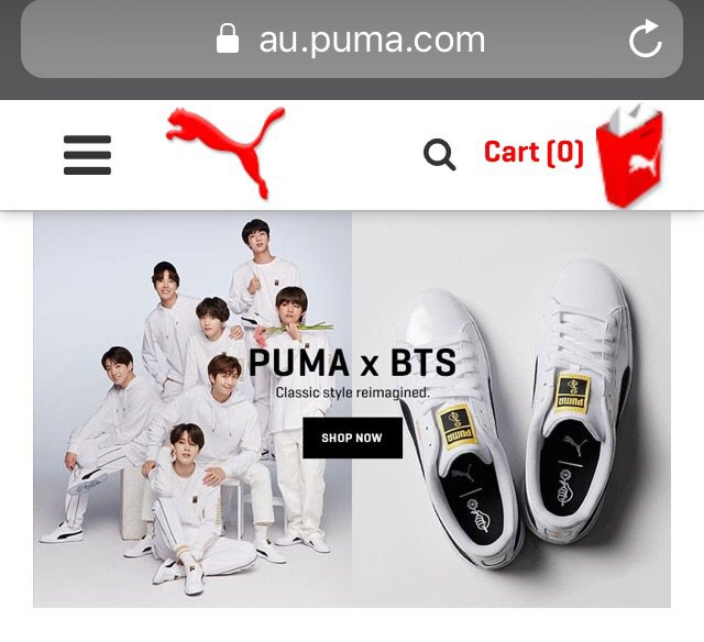 PUMAxBTS shoes now in Australia   ARMY