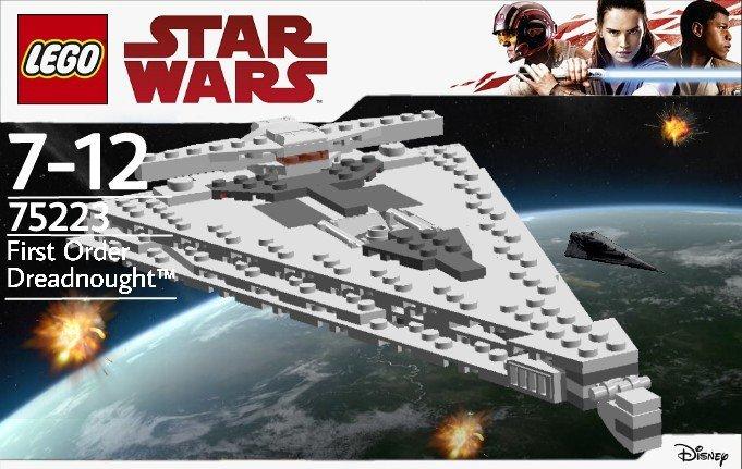 Custom Lego Set Midi Scale Mandator Iv Dreadnought W Instructions