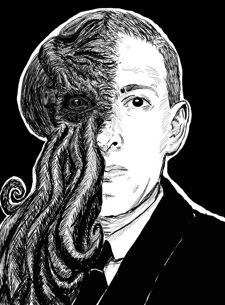 Commission: HP Lovecraft | Art Amino