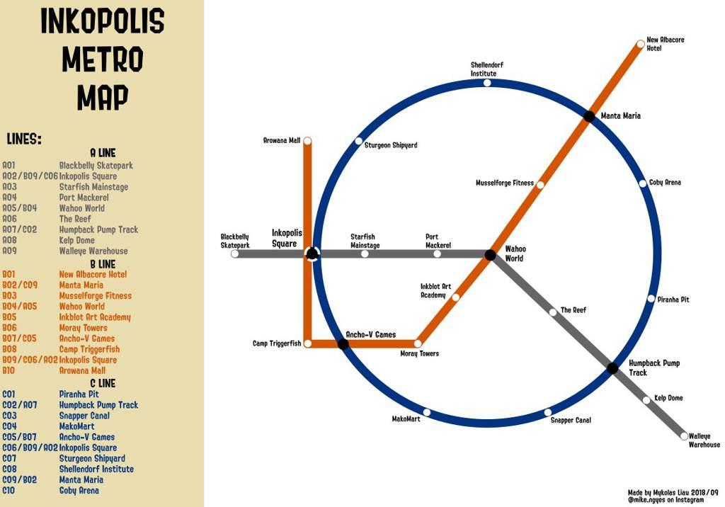 Sfm Subway Map.Inkopolis Metro Map Splatoon Amino