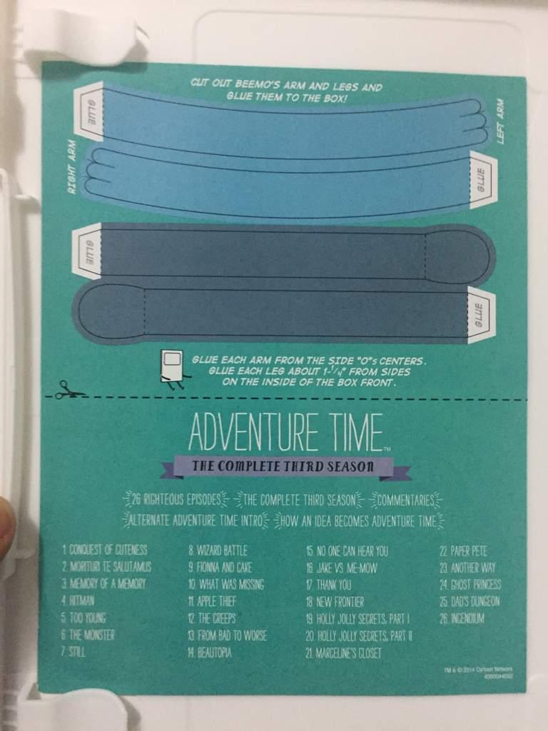 Adventure Time Season 3 DVD | Cartoon Amino