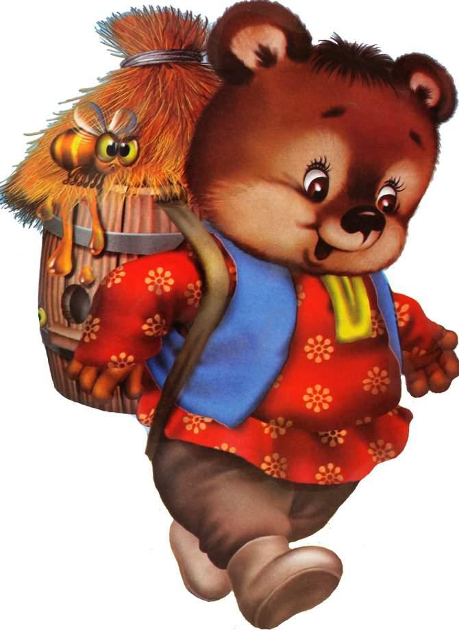 Медведь из сказок картинка