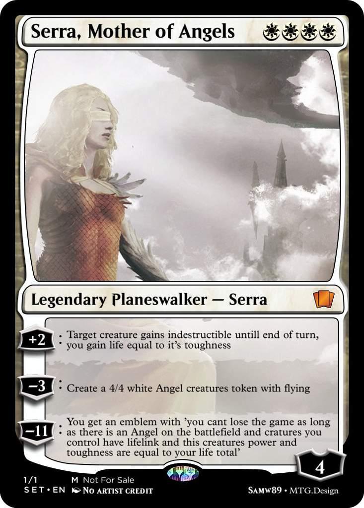 Mtg Serra Planeswalker