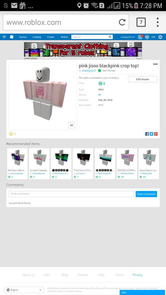 Jisoo Blackpink Shirt Roblox Amino - the title for the roblox website is misspelled as rolbox