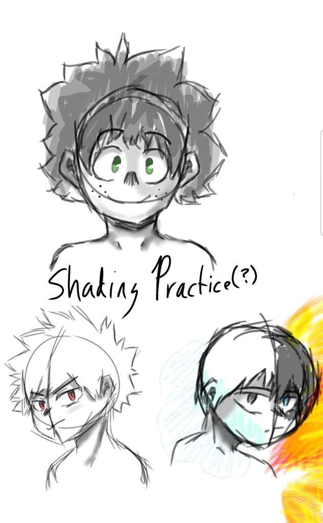 Digital Art Doodles Shading Practice My Hero Academia Amino