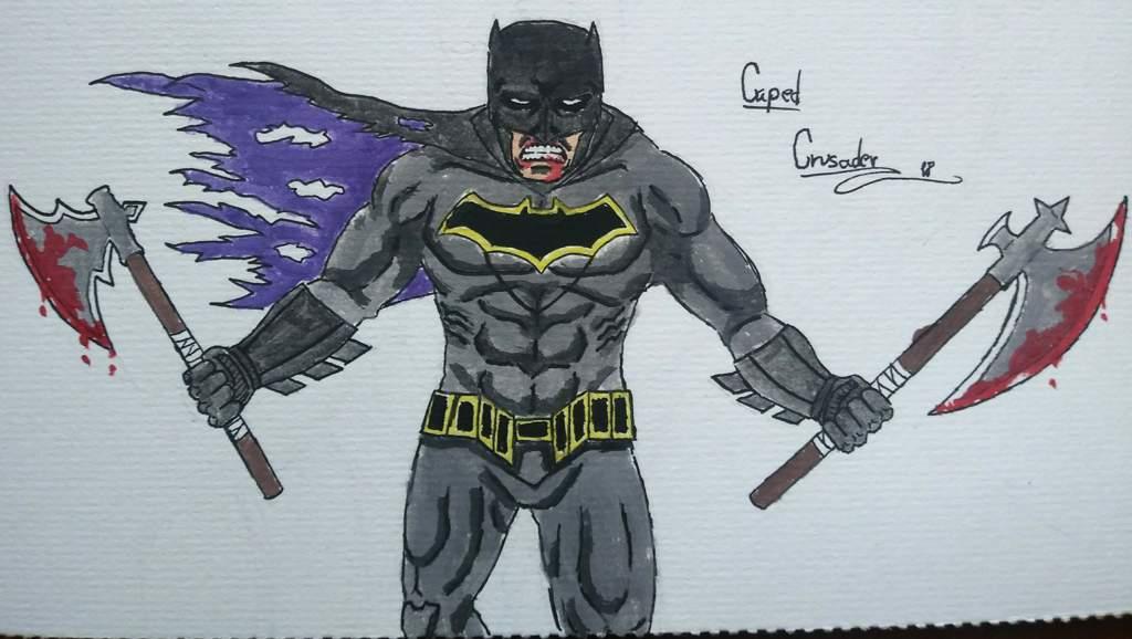 Dibujo De Batman Pintado Con Acuarelas Cómics Amino