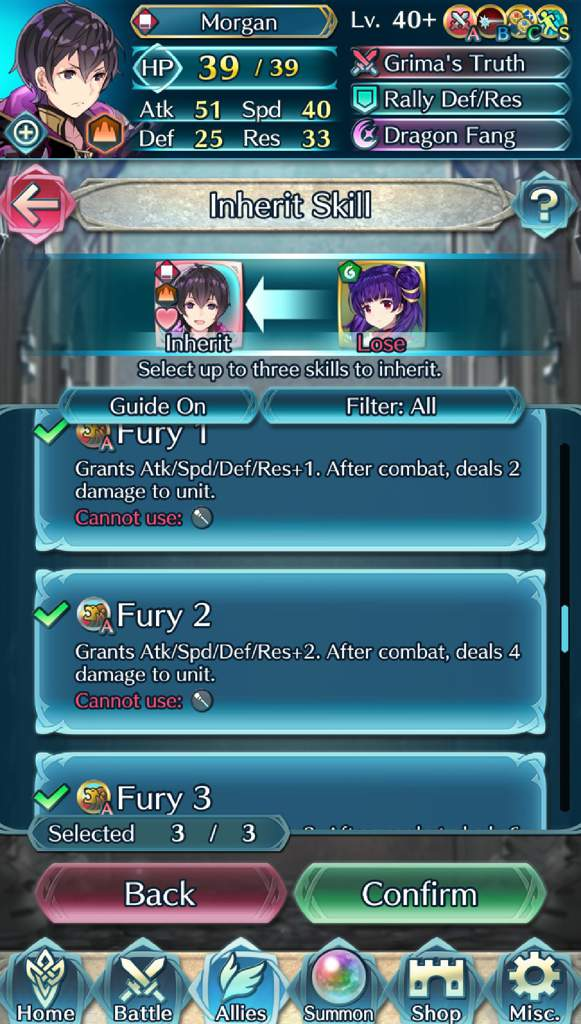 When you only have one unit for fury 3 and you're desperate