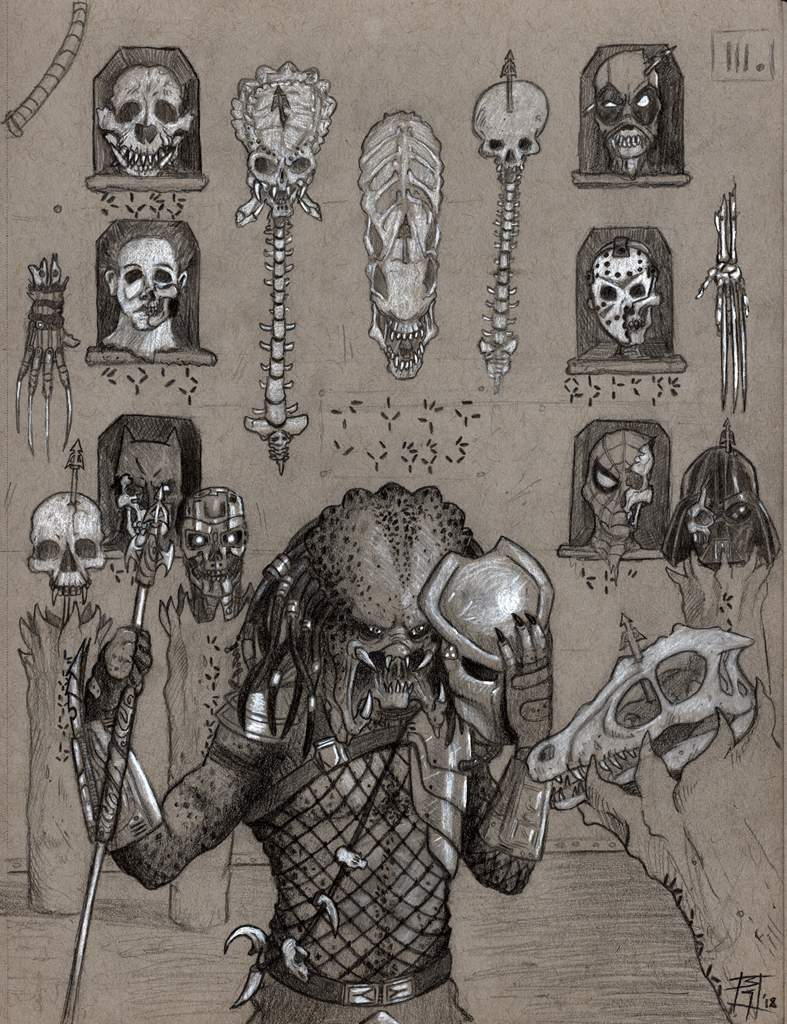 Trophy Room Pencil And White Charcoal Horror Amino