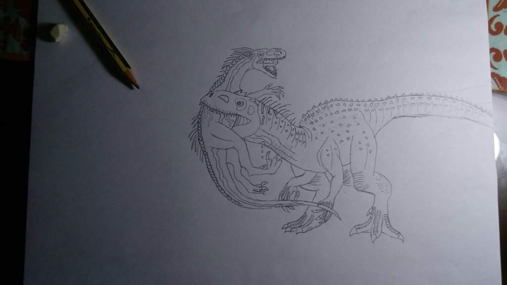 Dibujo Indoraptor Indomimus Rex Jurassic Park Amino
