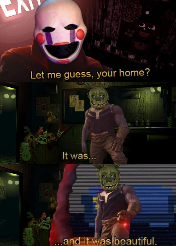 Let Me Guess Your Homefnaf Infinity War Five Nights At Freddys