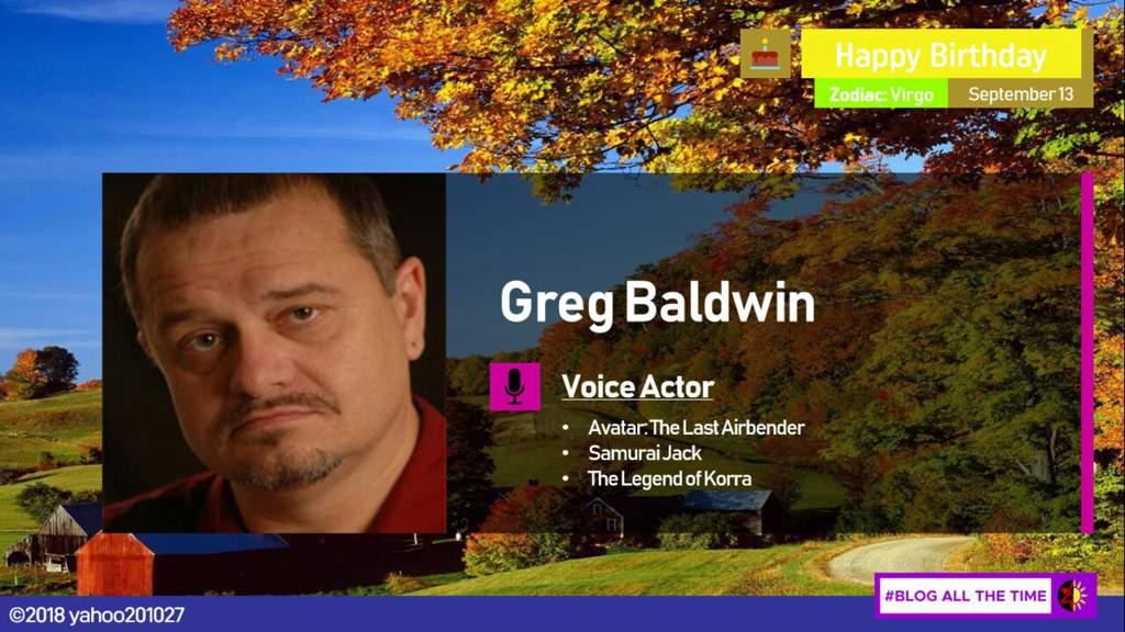 Happy Birthday Greg Baldwin Avatar Amino