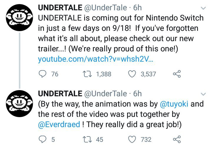 Undertale For Nintendo Switch is Almost Coming & New Trailer