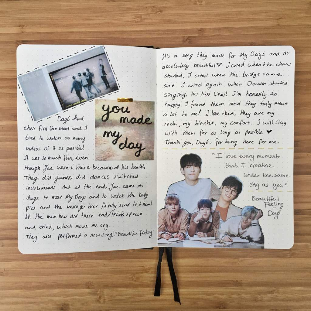 You Made My Day Journal Page Day6 Amino