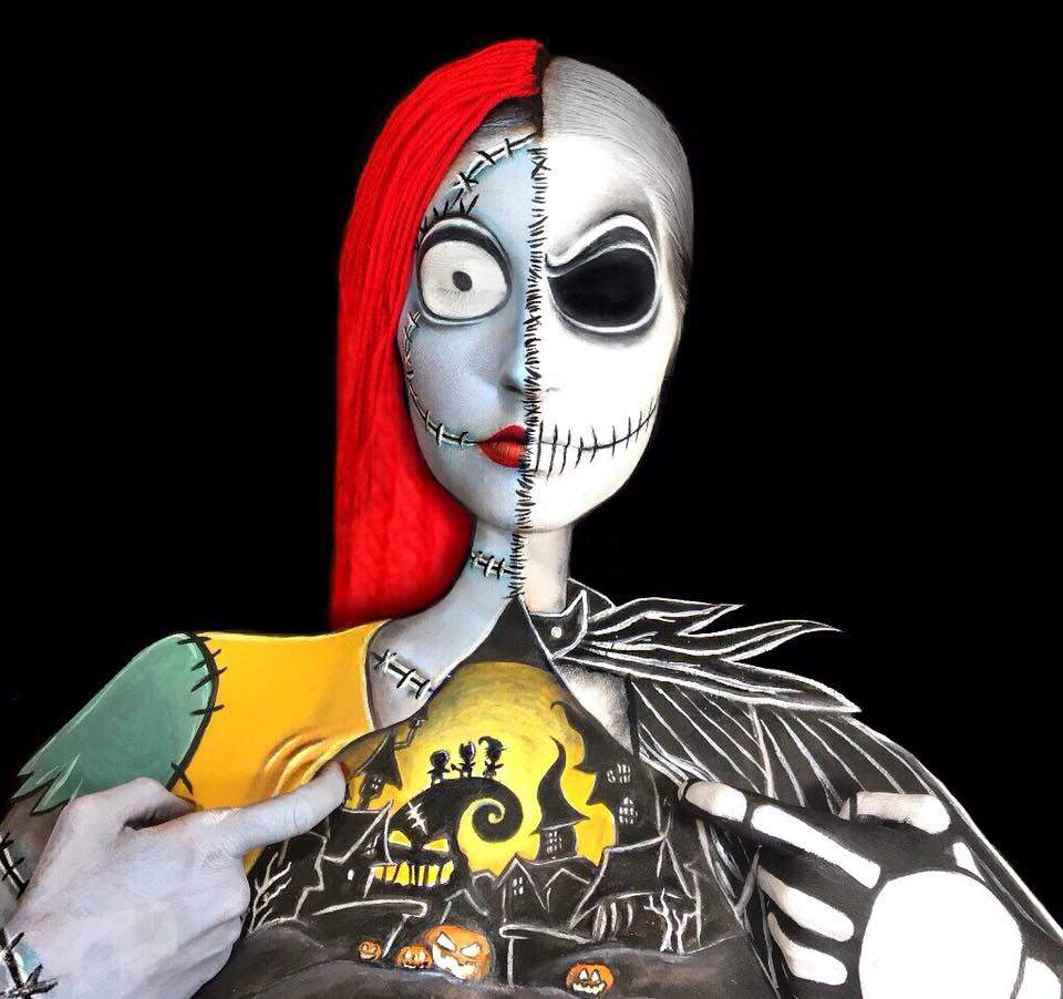 Jack and Sally Nightmare Before Christmas Makeup Time Lapse | Horror ...