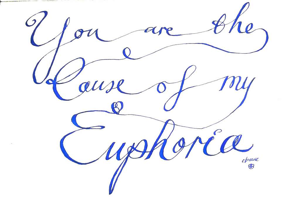 Euphoria calligraphy/word art | ARMY's Amino