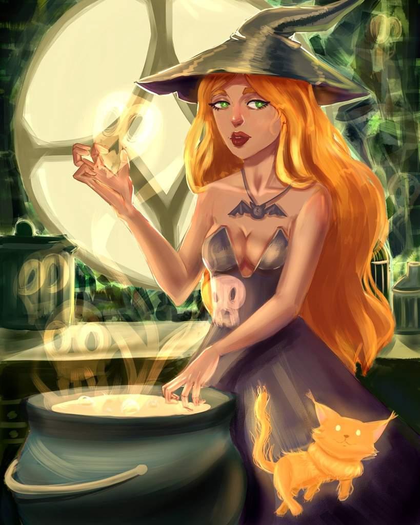 Картинки ведьмочка лето