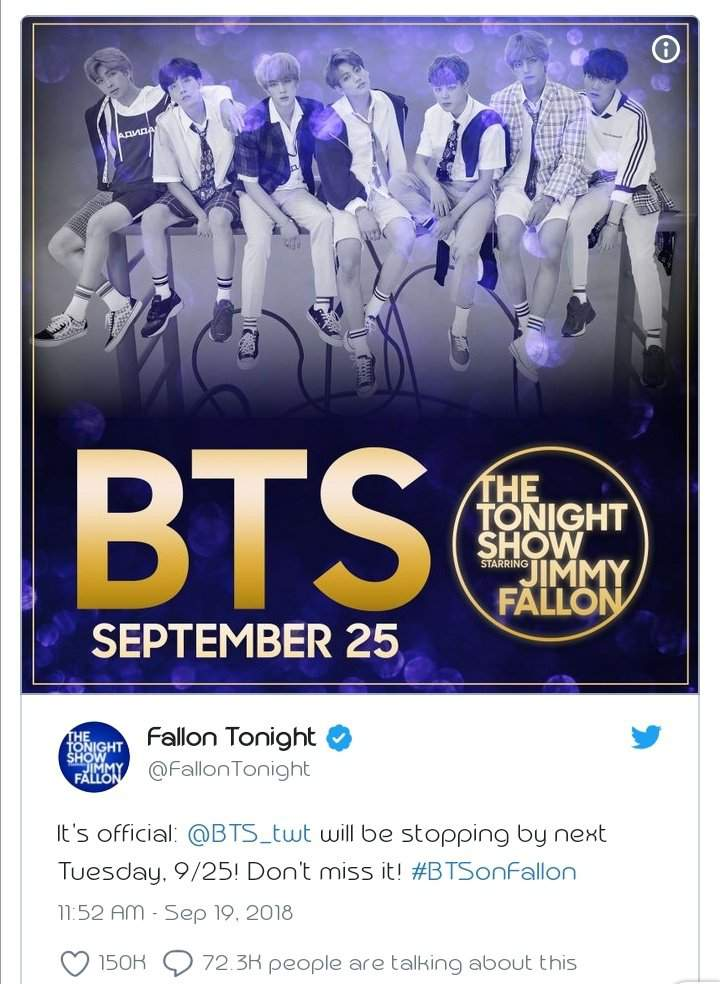 BTS Confirmed For Interview And Performance On The Tonight