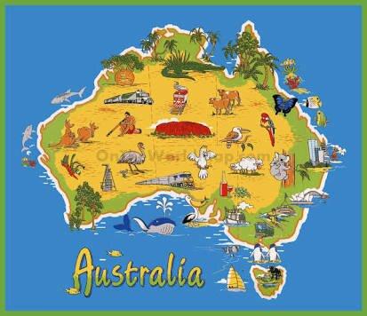 Map Of Australia With Landmarks.Australian Landmarks Quiz Travel Amino