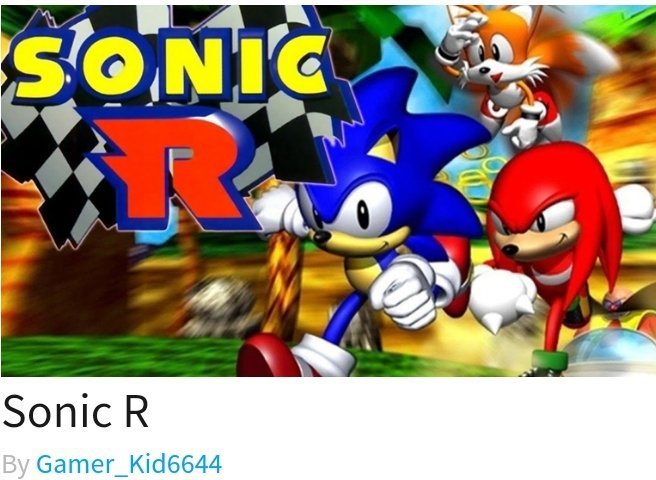 best sonic games on roblox