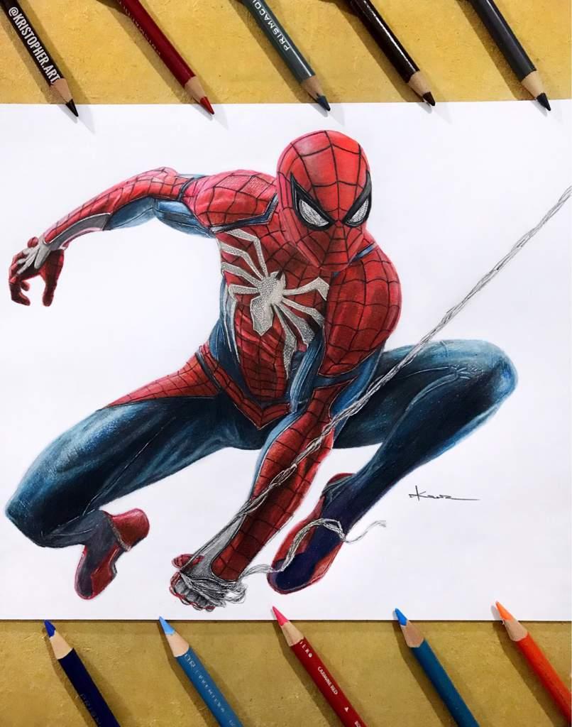 Dibujo de spiderman ps4