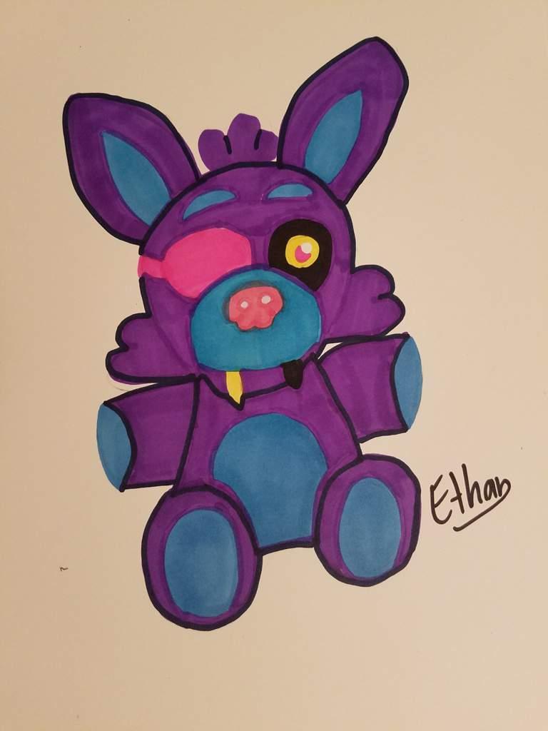 Blacklight Foxy Plush Drawing Five Nights At Freddy S Amino