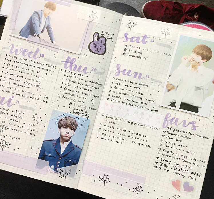 My first ever weekly spread :D | Bullet Journal Amino