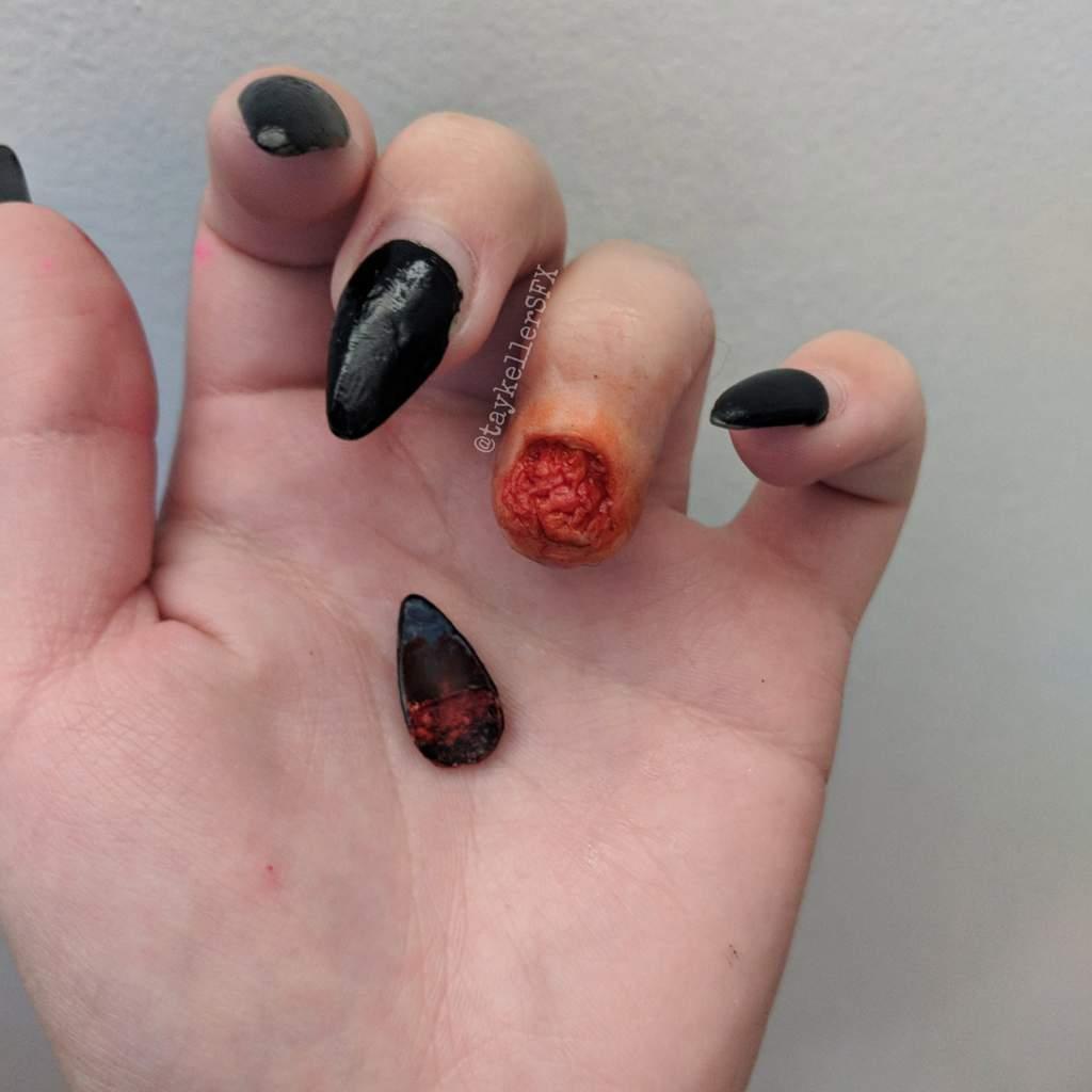 Broken nail makeup | Special Effects Makeup Amino