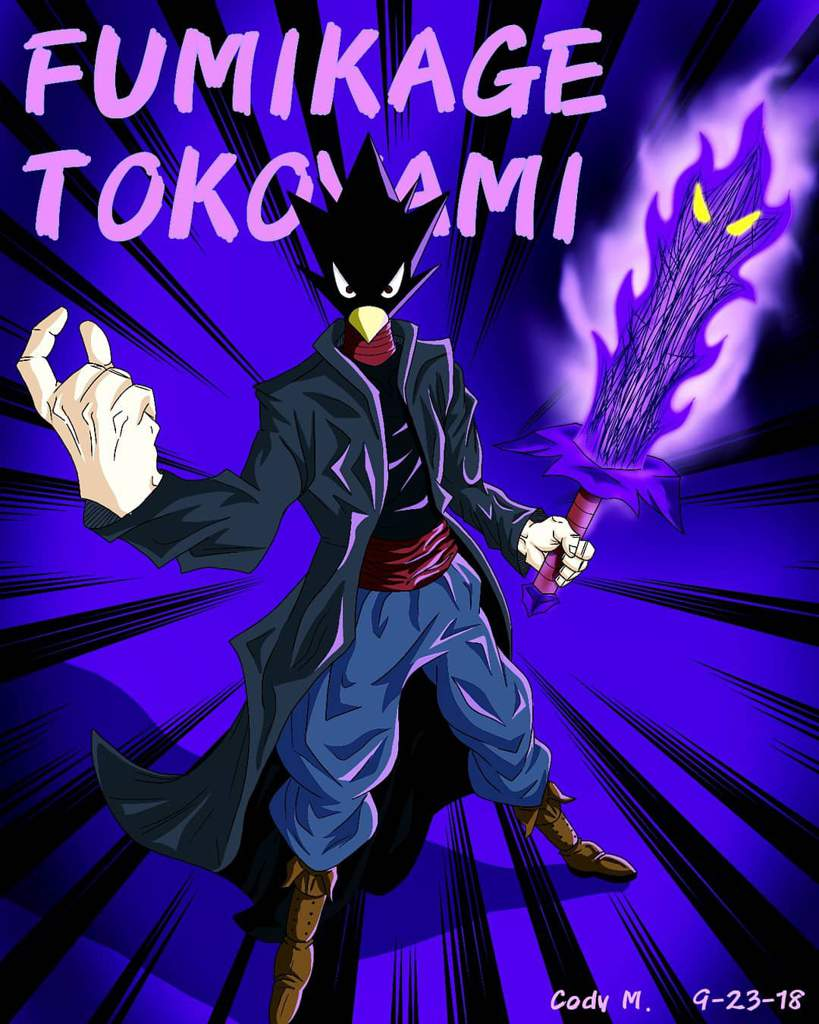 Fumikage Tokoyami Toko Dark Shadow Fanart My Hero