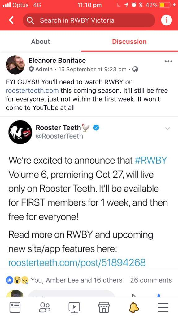 Watching RWBY this season Volume 6 only on Roosterteeth site