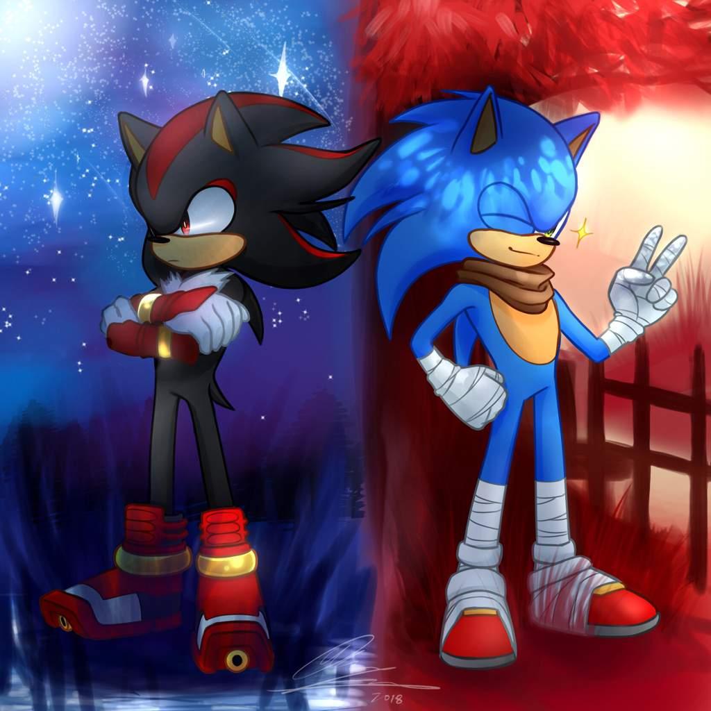 Sonic Or Shadow Fanart Sonic The Hedgehog Amino