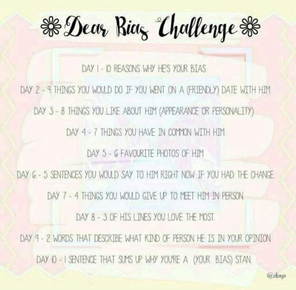 Dear Bias Challenge | ARMY's Amino