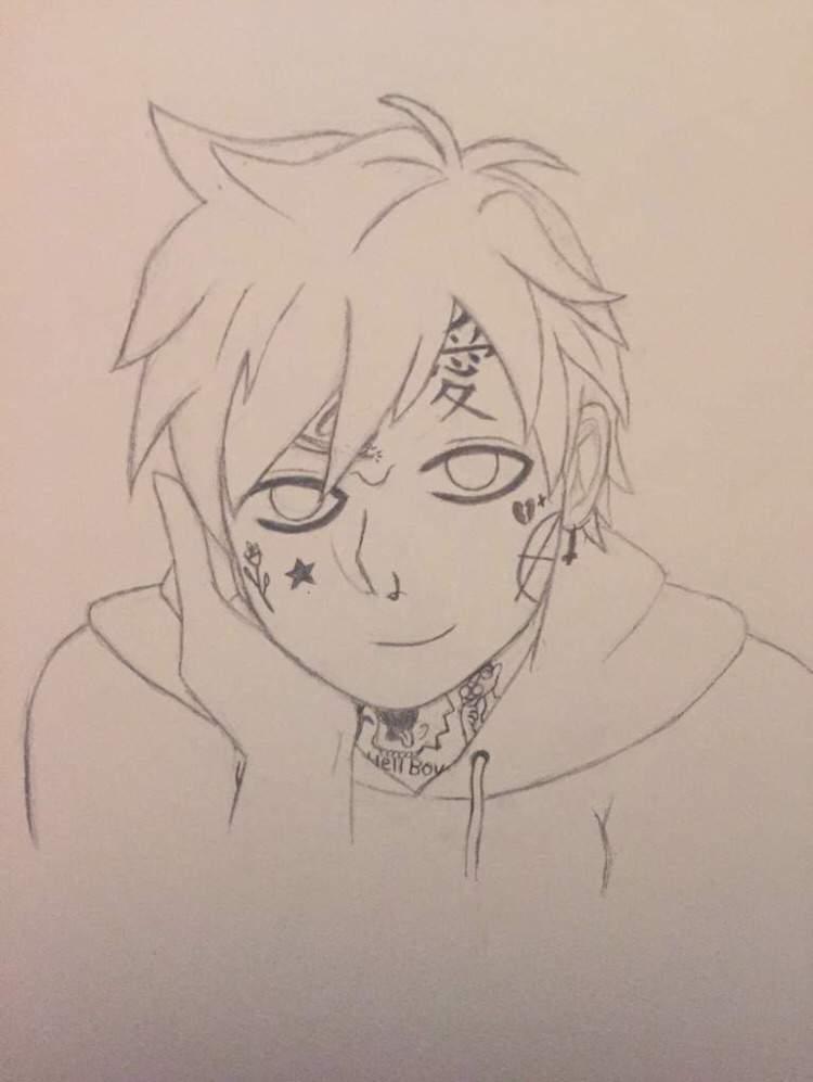 Anime art peep lil Lil Peep