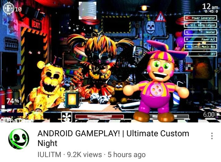 Ultimate Custom Night Being Playable on Android! | Five Nights At