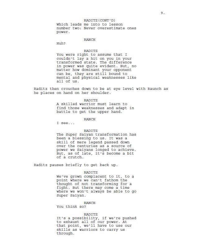 Dragon Ball R&R unused episode script  | DragonBallZ Amino