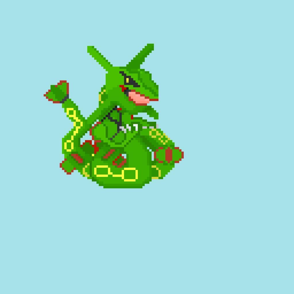 Rayquaza Pixel Art Pokémon Amino
